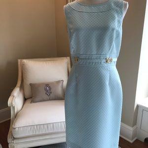 Tahari Arthur S. Levine Blue Shift Dress